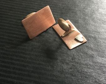 Hidden heart cufflinks - copper - Custom Text - Great Groomsmen gift