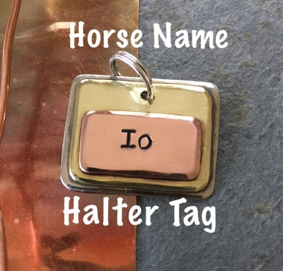 CUSTOM HORSE HALTER Tag Horse Name Tag Halter by ...