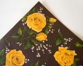 Any Occasion Wrapping Paper | Black Wrapping Paper Paper | Yellow Roses Gift Wrap