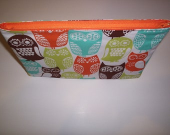 Swedish Owls Makeup Tote