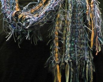 Blues Designer Handwoven Scarf