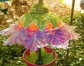 Recycled Lamp Bird Feeder