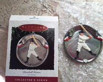 Lou Gehrig 1995 Hallmark Ornament and Box