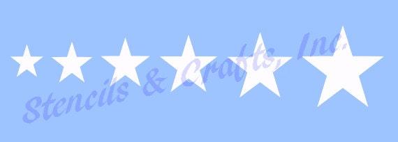star border stencil stencils different sizes stars celestial