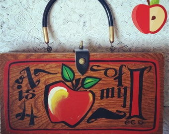 Enid Collins, Vintage, Box Bag, An Apple for my Eye