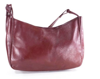 Burgundy Leather Bag Vintage Oxblood Purse