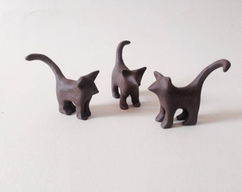 Cat Miniature Cat, Ceramic Cat Animal Totem