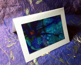 """Blank Card 4"""" x 6"""" Print of Original Alcohol Ink Painting Suitable for Framing"""