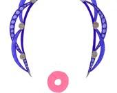 Nylon tubes and pearls headband