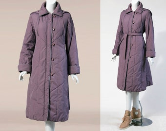 90s Ms. Freddi Purple Trench Coat | Medium