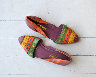 Fiesta leather sandals | vintage 1980s woven leather flats | vintage huaraches 6