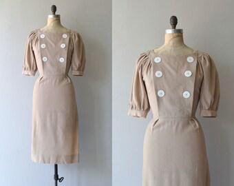 Meriwether dress   vintage 1950s dress   wool 50s dress