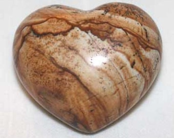 One African Queen Picture Jasper Puffy Heart to reduce stress