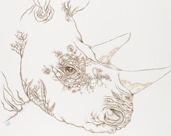 Botanicalia Rhino Print 8x10