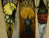 Special Listing for Denise at deanlu02 ONLY...Witching Hour Banner Hand Painted