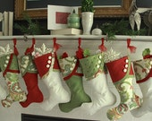 Christmas Stockings with Paisley Panache  - Bright & Cheery Paisley in Slightly Muted Shades of Red and Green