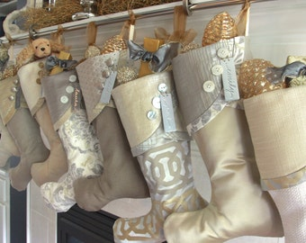 Christmas Stockings for All That Glitters - Soft Metallics in Golds and Silvers to Glisten All Season
