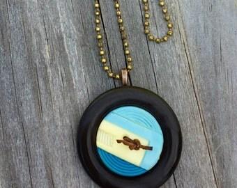 Vintage Buttons Pendant Necklace