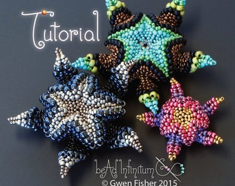 TUTORIAL Cellini Asterisk Pendant Beaded with Peyote Stitch