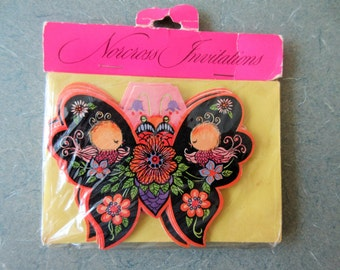 Vintage Invitations, Butterfly Invitations, All Occasion Invites, Norcross Invitations, Party Invites, Midcentury Invites, New Old Stock