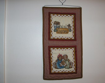 Gingerbread Wall Hanging with Wire Heart Hanger 10 1/2 x 22 inches