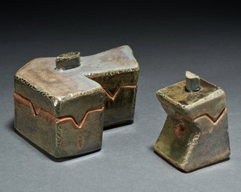 Art Deco Clay Jewerly Gift Boxes Ceramic Keepsakes Sculpture