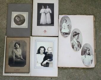 Antique Photograph LOT Victorian Edwardian Portrait Cabinet Photo