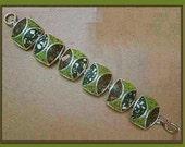 David URSO Artisan Sterling Silver/Resin Link Bracelet,Unworn Condition-Great Valentines Gift,Vintage Jewelry,Women