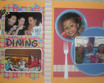Disney Dining Scrapbook Layout