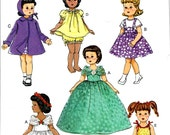 DOLL CLOTHES PATTERN! Fifties Vintage Style Outfits / Fits American Girl - Shirley Temple - Patsy - Miss Revlon - 18 Inch Dolls
