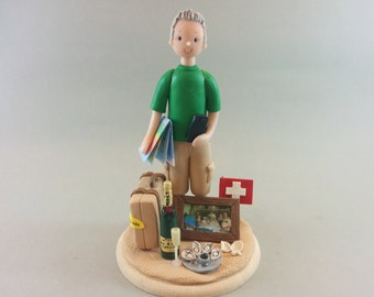 Customized Single Figurine for a Birthday Cake Topper