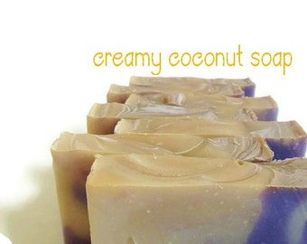 Coconut Soap, Handmade Vegan Soap, Cold Process Soap, Soap, Discount on Soap