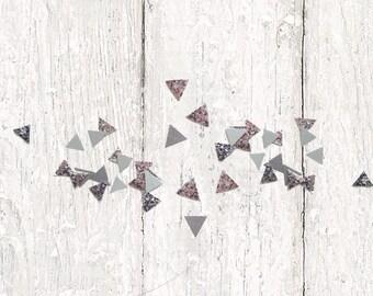 Party Confetti - Silver Wedding Decor - Hand Cut Confetti - Glitter Confetti - Modern Wedding Decor - Photo Props - Table Decor - Gray Decor