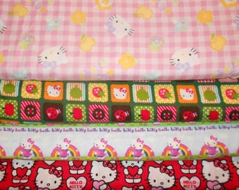 HELLO KITTY #9  Fabrics, Sold INDIVIDUALLY not as a group, by the Half Yard