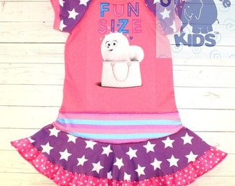 FUN SIZE - a dress made out of authentic Secret life of pets tshirt cool funky upcycled pieced size 4