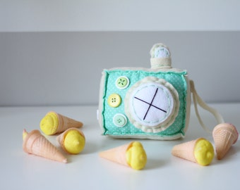 Lemon Swirl Plush Camera