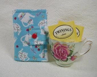 Tea Wallet ... Afternoon Tea in Blue