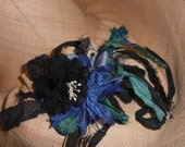 One of a kind Braided Silk Hat Band/ Statement Necklace