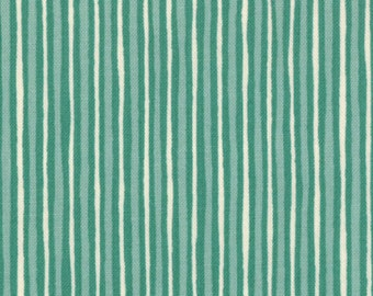 Mind Your P's and Q's 1 & 1/4 Yard Remnant 32715-15 Turquoise