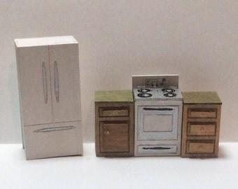 Quarter Inch Scale Modern Kitchen Furniture Kit