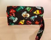Necessary Clutch Wallet-Monsters Wallet-Smartphone Wallet-Accordian Style Clutch Wallet-Multi-Purpose Wallet