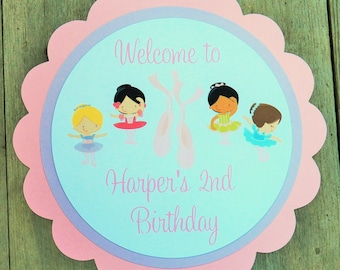 Ballet Friends Party - Custom Ballet Party Sign by The Birthday House