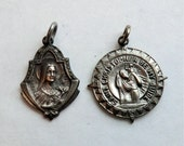 Vintage St Christopher and St Therese Medals