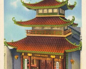 Vintage Postcard of the Chinatown Telephone Exchange - San Francisco