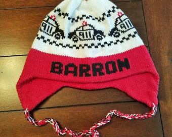 Personalized Earflap Hat - Police Car