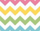 COUPON CODE SALE - Large Chevron, Girl, Riley Blake Designs, 100% Cotton Quilt Fabric, Quilting Fabric