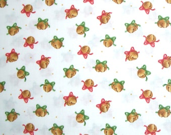 COUPON Code Sale - FAT QUARTER - Maywood Studio, Christmas Classics, Jingle Bells, 100% Cotton Quilt Fabric, Quilting