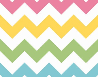 SALE - Large Chevron, Girl, Riley Blake Designs, 100% Cotton Quilt Fabric, Quilting Fabric
