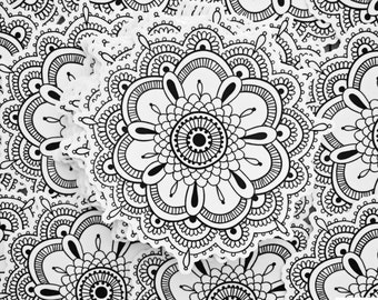 Weatherproof Vinyl Sticker - Mandala - Henna Peace Hand, Unique, Fun Sticker for Car, Luggage, Laptop - Artstudio54