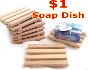 20 Soap Dishes for 20.00 - 20 natural poplar soap dishes or 20 reclaimed red alder - JUST 1.00 each - handcrafted in Portland, OR USA